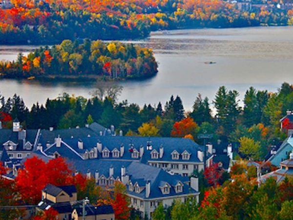 Aerial view of mont tremblant