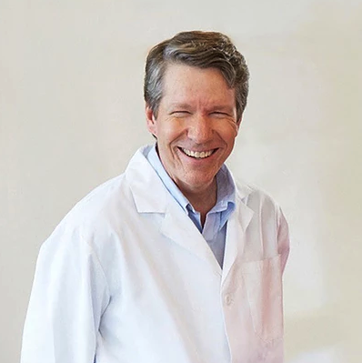 Dr Dave Bruyette in a Lab Coat